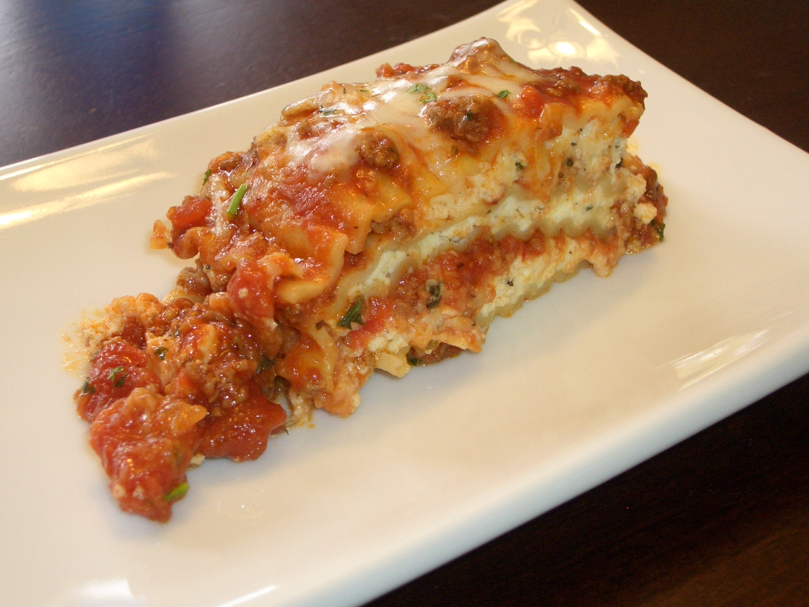 Three Cheese Homemade Lasagna