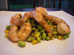 Shrimp with Corn and Edamame