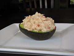 Cold Crab Stuffed Avocado