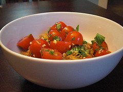 Orzo with Tomatoes and Basil