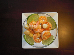 Lemony Shrimp and Scallop Cocktail