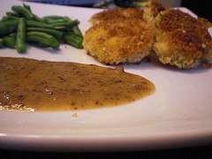 Panko-Crusted Chicken with Mustard-Maple Sauce