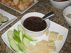 Fig Jam, Pecorino Romano and Apples
